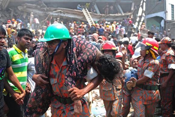 Bangladeş'te yıkılan fabrikadan